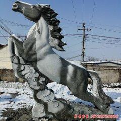 踏祥云的馬石雕
