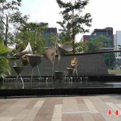 不锈钢抽象喇叭花喷泉雕塑