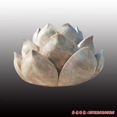 公园石雕荷花莲花