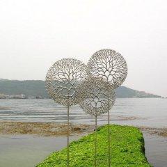 不锈钢公园蒲公英雕塑
