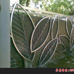 不锈钢公园抽象树叶雕塑