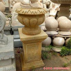 砂岩花盆公园景观石雕