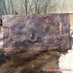 獨角獸獬豸法制銅浮雕