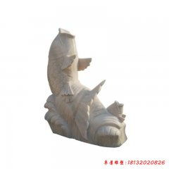 公园小区喷水鲤鱼石雕