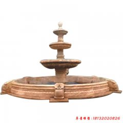石雕三层欧式喷泉