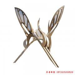 不锈钢公园大型仙鹤雕塑