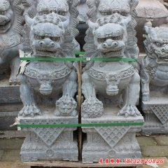 青石仿古门口狮子雕塑