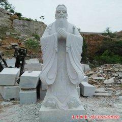 校园古代名人孔子行教像石雕