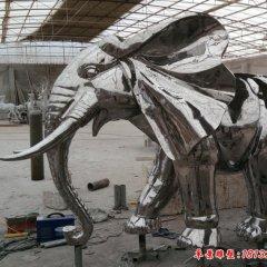 镜面不锈钢大象雕塑