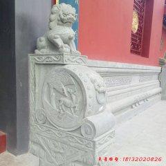 狮子抱鼓门墩石雕