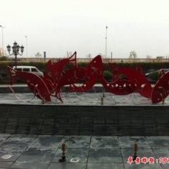 不锈钢公园剪纸鲤鱼雕塑