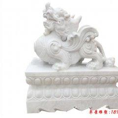 漢白玉招財貔貅石雕