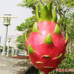 玻璃钢仿真火龙果公园水果雕塑