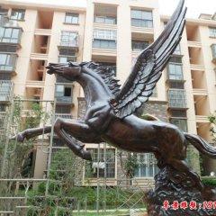公园小区飞马铜雕