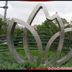 不锈钢抽象树叶公园景观雕塑