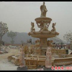 欧式人物三层喷泉石雕