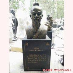 玻璃鋼仿銅古代名人李悝頭像