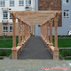 校园长廊走廊石雕