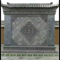 福禄寿浮雕石影壁