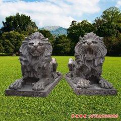 铜雕门口欧式狮子