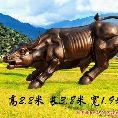 玻璃鋼華爾街牛雕塑