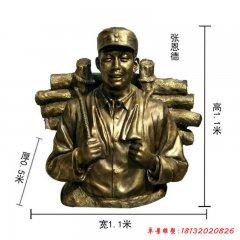 銅雕張思德半身像