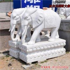 門口石雕招財大象