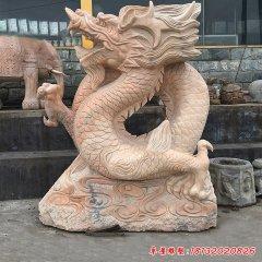 公園景區中國龍石雕