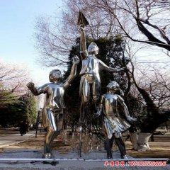 不銹鋼鏡面學生雕塑