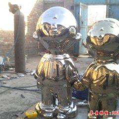 不銹鋼鏡面卡通兒童雕塑