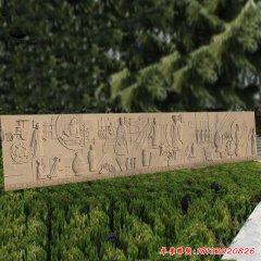 古代故事石浮雕