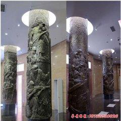 铜雕文化柱