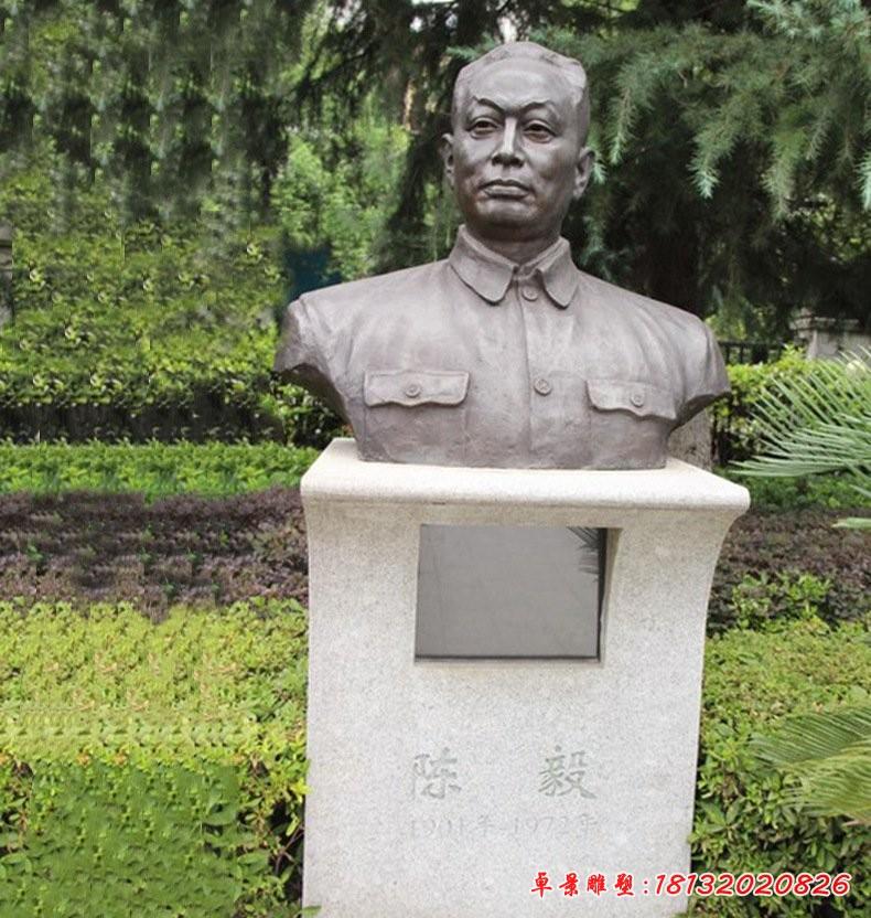 十大元帅陈毅铜雕