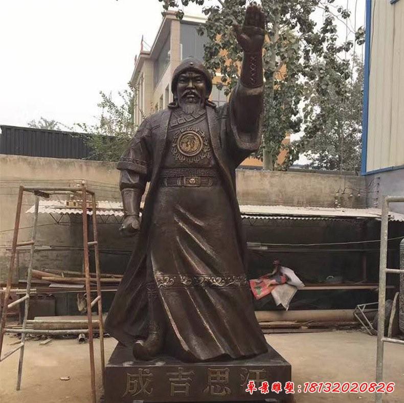 铜雕古代名人成吉思汗
