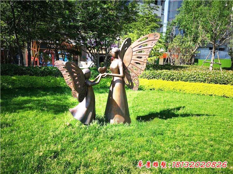 铜雕蝴蝶仙子