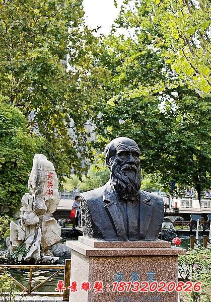 西方名人达尔文铜雕