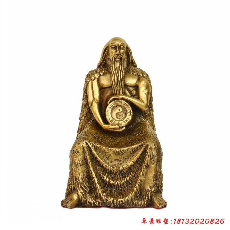 铜雕伏羲神话人物雕塑