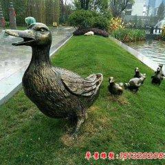 鴨子動物銅雕塑