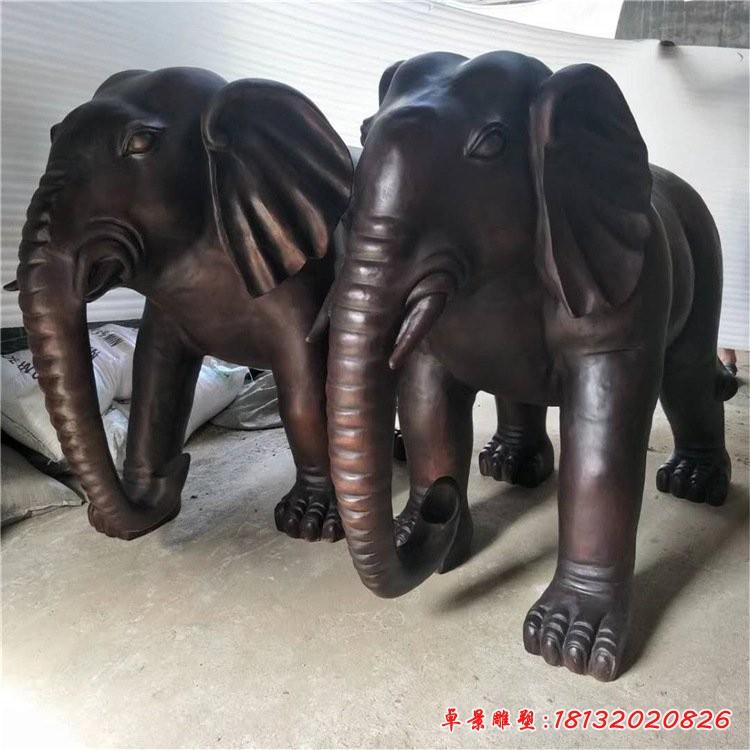 门口大象铜雕
