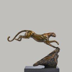 豹子銅雕塑
