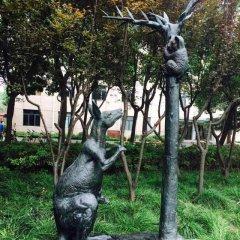 公园动物铜雕袋鼠