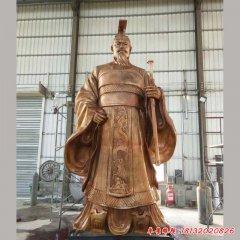 古代帝王刘邦铜雕