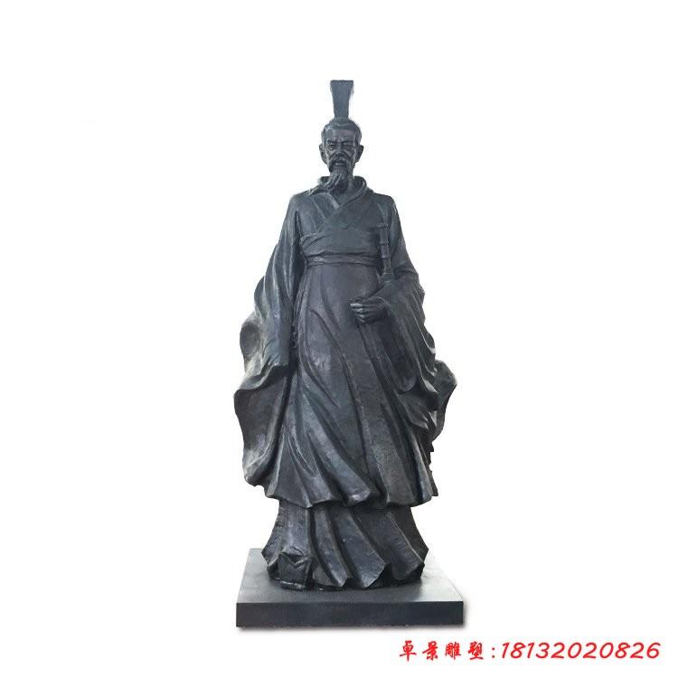 古代名人屈原铜雕