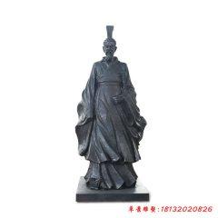 铜雕屈原古代名人