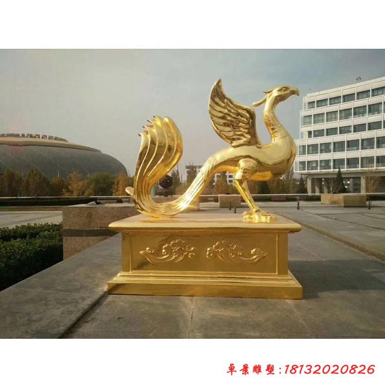 古代神兽朱雀铜雕