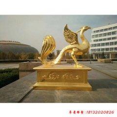 铜雕古代神兽朱雀