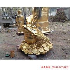 招财金蟾铜雕