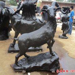 铜雕羊动物雕塑
