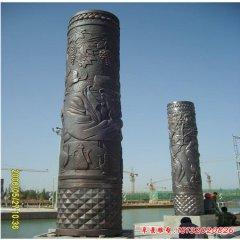 广场铜雕文化柱