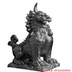 古代神獸獬豸銅雕